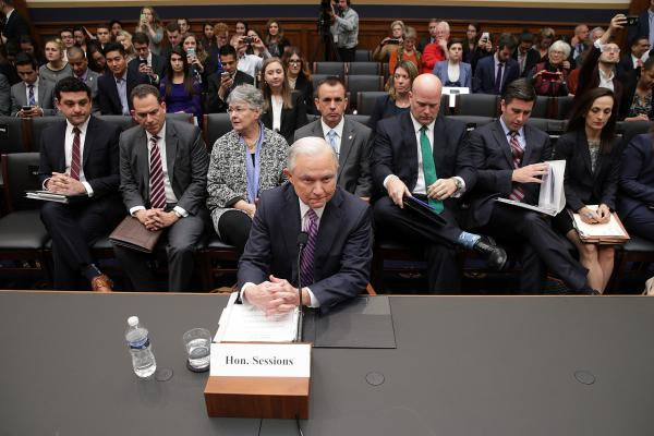 Attorney General Jeff Sessions appears before the House Judiciary Committee earlier this month in Washington, D.C.