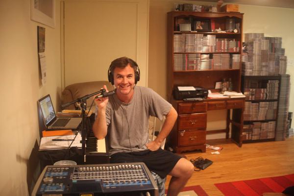 Matt Farley at work in his Massachusetts home.