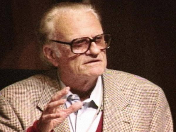 Rev. Billy Graham speaking at a TED conference in 1998.