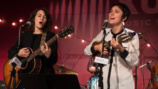 Gaby Moreno and Gina Chavez perform live at KUT's Studio 1A.