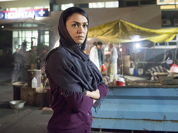 Nazanin Boniadi plays analyst Fara Sherazi on Showtime's <em>Homeland</em>.