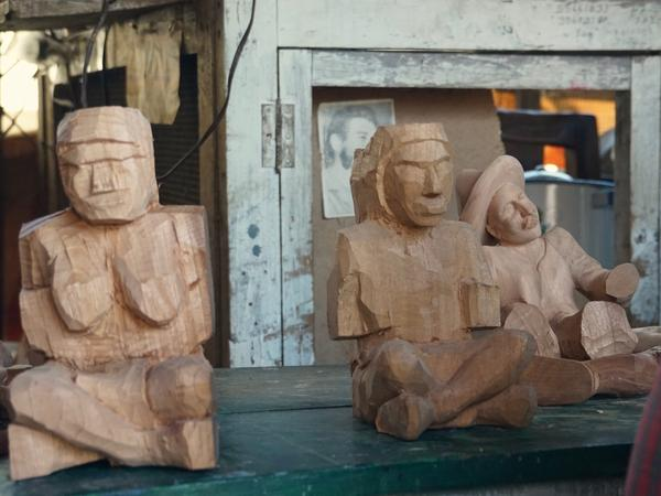 Traditional Mayan figures made by artisan Nicolas Chavez in Guatemala and sold on Novica's website.