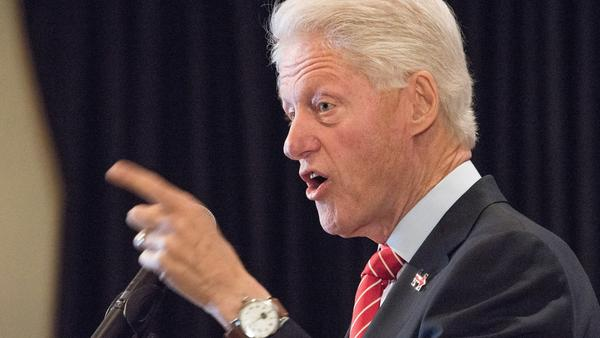 Bill Clinton, seen here in New York last week, has been on the presidential campaign trail for Hillary Clinton.