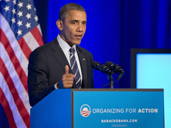 """""""I may hold this office for another 14 months. But I'm not going anywhere,"""" President Obama told Organizing for Action last November in Washington, D.C."""