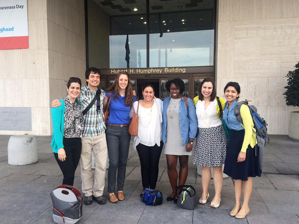 These students are part of a fellowship in health policy run jointly by the George Washington University schools of medicine and public health. In addition to hearing lectures from policy experts, the residents take field trips to Capitol Hill, the Supreme Court and local clinics and community health centers.