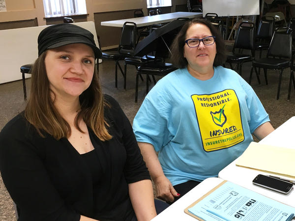 Michelle Gross (right) is a member of the Committee for Professional Policing, which is proposing a ballot measure in Minneapolis that would require police officers to carry liability insurance.