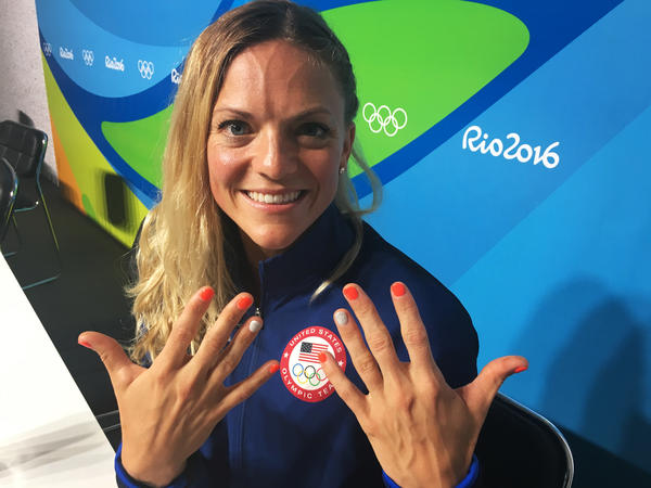 "Morghan King shows off her lucky manicure. ""I'm done!"" she says."