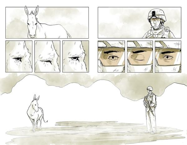 "Maximilian Uriarte wrote and illustrated <em>The White Donkey</em>, a graphic novel that highlights the tedium of deployment. ""I think you can get a lot more nuance, a lot more meaning out of a story that isn't based in some kind of grand battle,"" he says."