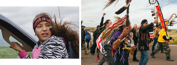 Protesters demonstrate against the Energy Transfer Partners' Dakota Access Pipeline near the Standing Rock Sioux reservation in Cannon Ball, N.D., hours before a federal judge denied the tribe an injunction against the pipeline.
