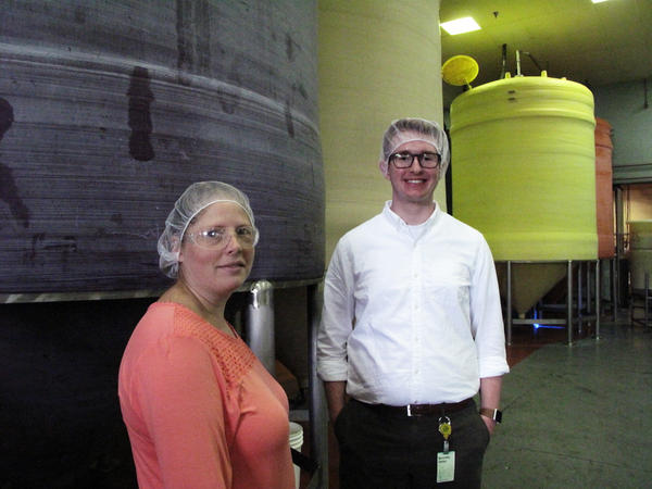 Wesley Sizemore, a senior at Global Impact STEM Academy, interned at Woeber Mustard, a local mustard and mayonnaise factory.
