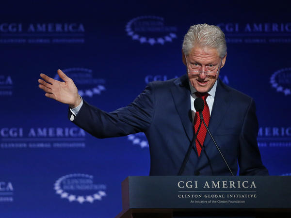 Former President Bill Clinton speaks at the annual gathering of the Clinton Global Initiative America, part of the Clinton Foundation, in Denver in 2015.