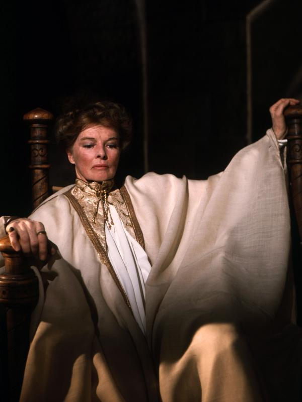 In <em>Lion in Winter</em> Katharine Hepburn plays a queen — one who has been locked up.