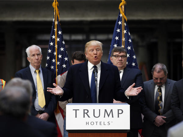 Donald Trump speaks during a campaign event March 21 at the Old Post Office Pavilion, now a Trump International Hotel, in Washington, D.C.