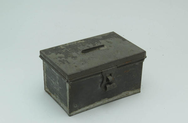 These early 19th century alms boxes were used to collect money for religious institutions and charities.