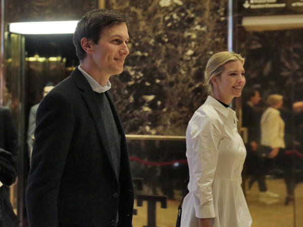 Jared Kushner and his wife, Ivanka Trump, have played key roles in Donald Trump's campaign, his transition team and his family businesses.
