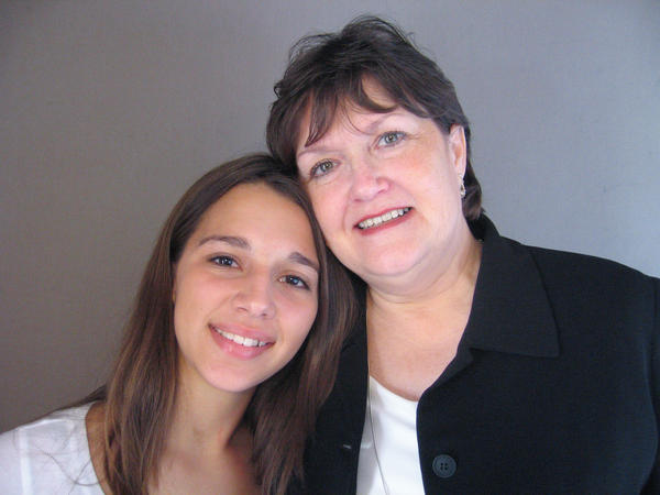 Kayla Wilson with her grandmother Terilyn Coulter-Colclasure at a StoryCorps booth in 2006.