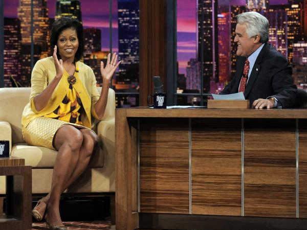 Michelle Obama appeared on <em>The Tonight Show</em> on Oct. 27, 2008, just days before the election.
