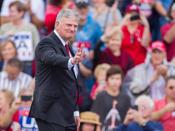 Evangelist Franklin Graham will follow his family's tradition of praying at presidential inaugurations when he prays during the ceremony for President-elect Donald Trump. He prayed previously at the 2001 inauguration of George W. Bush, and Graham's father, Billy, prayed at the inauguration of several presidents.