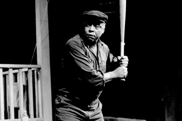 James Earl Jones stars in August Wilson's <em>Fences</em> in 1985. <em>Fences</em> is one of several plays Wilson premiered at the Yale Repertory Theatre.