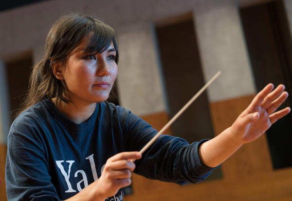 "Zarifa Adiba, one of two conductors, is 18. She always loved music, and her mother told her, ""What you love, go ahead and find out."""