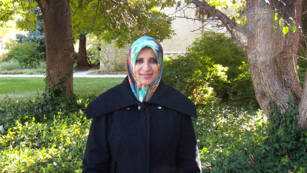 Hanan Isweiri is a Ph.D. student at Colorado State University. She flew to Libya in January to visit with family after her father's death. She was able to re-enter the U.S. Saturday.