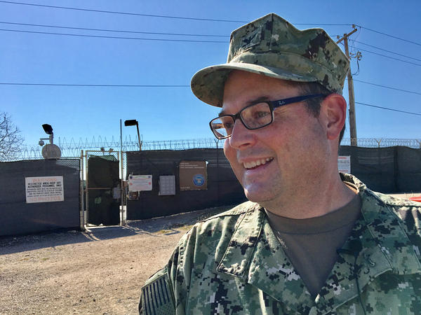 Navy Capt. John Filostrat, Guantanamo detention camps spokesman, provided a guided tour of the facilities in their current state.