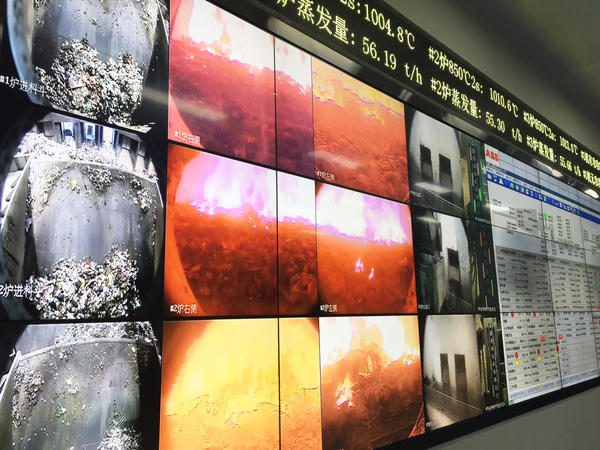 Inside the control room at Beijing's Gao'antun incinerator power plant, video images show garbage burning at more than 1,000 degrees Celsius. Emissions from the plant go through a high-tech filtration system that reduces its impact on the environment. Most incinerators in China do not utilize these measures.