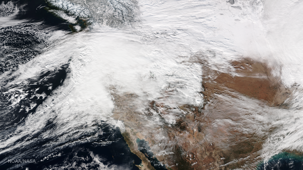 A storm on Jan. 10 dumped several inches of snow over the Pacific Northwest. Atmospheric rivers like these funnel moisture from the tropics.
