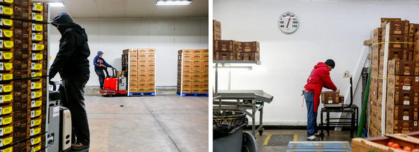 "The Wholesum Harvest warehouse in Nogales, Ariz., has a small packing house — known as ""repack."" It's a second opportunity to check produce cartons before they are loaded onto trucks."