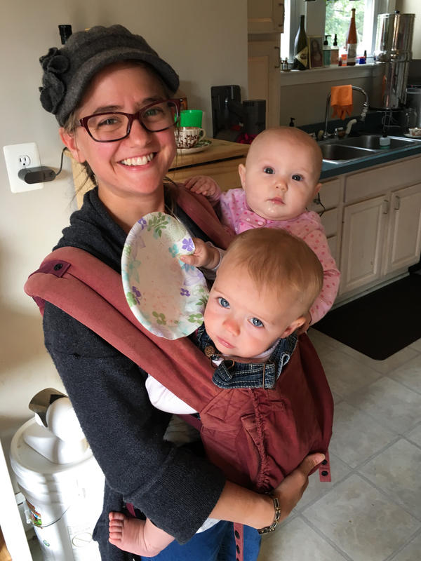 Jane Murphy (shown here with two of her three children), moved to Hyattsville with her husband to be part of the local Catholic community and send their kids to St. Jerome Academy.