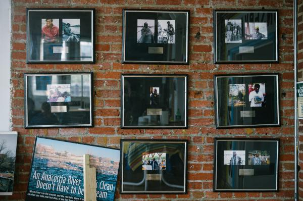 At the Earth Conservation Corps headquarters, photos are displayed showing young corps members who lost their lives over the years.