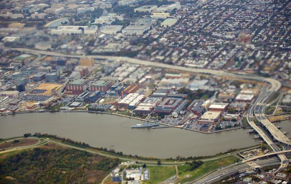 A view of the Naval Yard Complex, along the Anacostia River, in 2015.