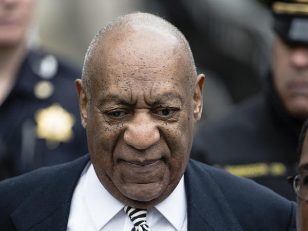 Bill Cosby leaves after a pretrial hearing in his sexual assault case last month at the Montgomery County Courthouse in Norristown, Pa.