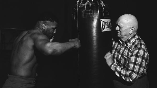 "Mike Tyson and Cus D'Amato in training. ""I'm not a creator,"" D'Amato once said. ""What I do is discover and uncover."""