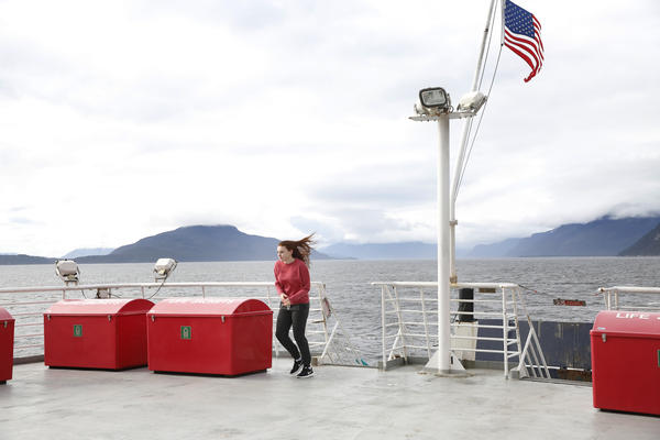 """The shop travels at """"schoolbus speed,"""" as our Captain Brian Flory puts it: 15 knots, or about 18 miles per hour."""