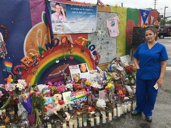 Olivia Baez, a nurse at Orlando Regional Medical Center, cared for victims of the shooting that night. She says she comes to the Pulse memorial nearly every day.