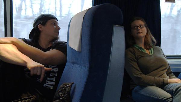 Strangers become friends in <em>In Transit</em>.
