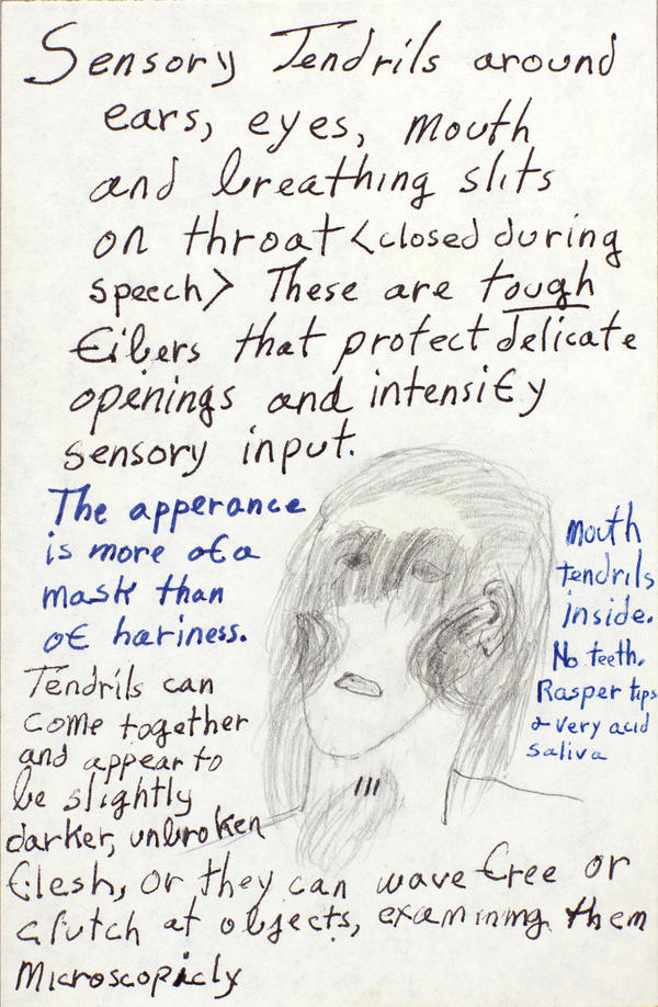 A detail from notes Butler made for the Oankali, characters from the <em>Xenogenesis</em> trilogy.