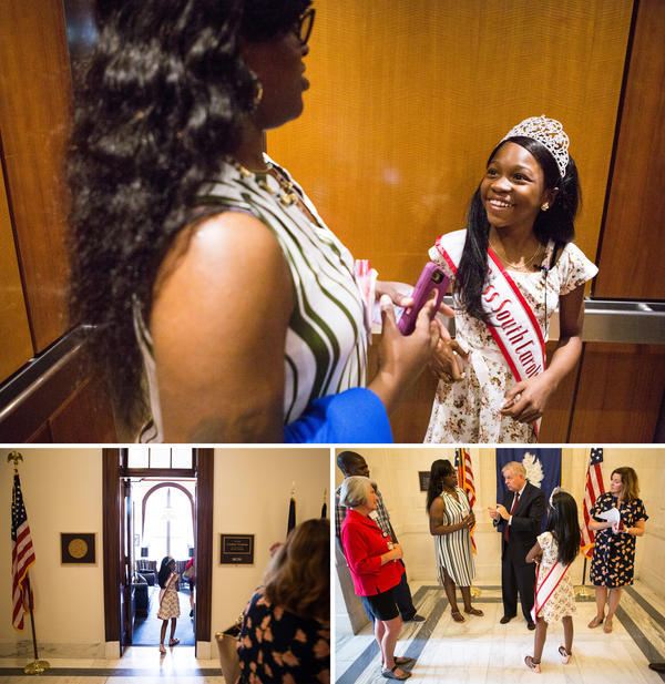 Tymia also stopped by the office of Sen. Lindsey Graham, a Republican from South Carolina, to express her opposition to any health care reform that would curb the Medicaid benefits she relies on.