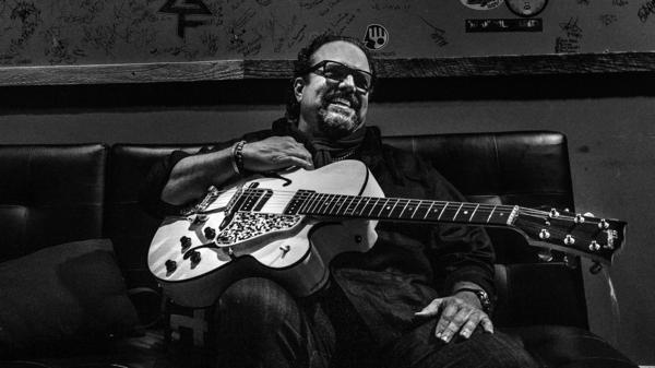 Raul Malo with his beloved Gibson L-5 Studio, restored by luthier Joe Glaser.