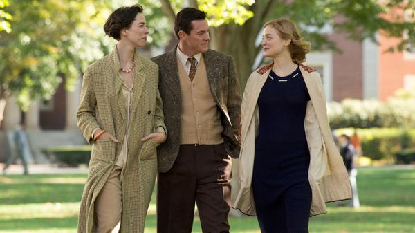 To The Wonder: Elizabeth (Rebecca Hall), Bill (Luke Evans) and Olive (Bella Heathcote) in <em>Professor Marston and the Wonder Women</em>.