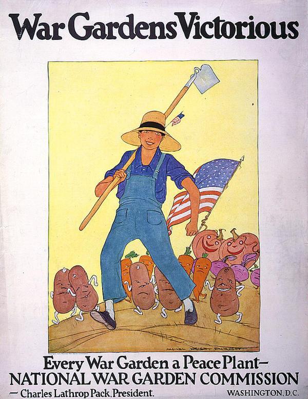 A war gardens promotion poster.