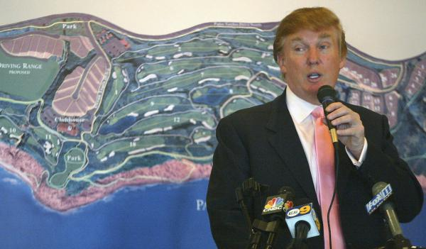 At the January 2005 groundbreaking of the Trump National Golf Club in Rancho Palos Verdes, Calif., the future president reportedly brought up an old lawsuit and used profanity.