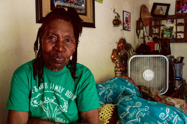 Pearlie Mae Brown, 81, has lived in West Dallas her entire life.