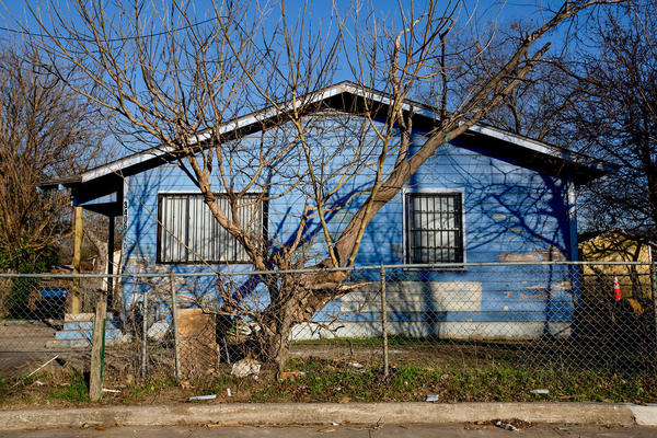Little by little, neighborhoods in West Dallas are fading away.