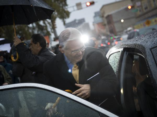 NEWARK, NJ - NOVEMBER 7: Sen. Robert 'Bob' Menendez is accused of accepting bribes from campaign donor Salomon Melgen, a Florida-based ophthalmologist.