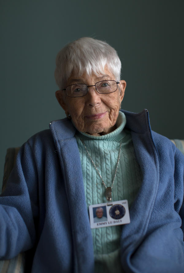 Emmy Lu Daly worked at a naval supply depot in Clearfield, Utah, from 1944-46.