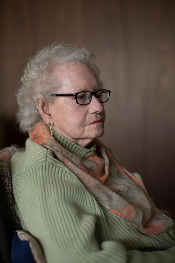 Muriel Kupersmith worked as a secretary in the Marine Corps from 1944-46. She was tasked with notifying families when servicemen were killed in action.