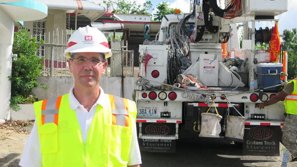 "José Sánchez, who heads the Army Corps of Engineers efforts to restore the power grid in Puerto Rico, says the repair work is slowest is in the southeastern part of the island where Hurricane Maria made landfall. That's because of topography and limited materials, he says. ""Demand is high and everything comes from the mainland."""