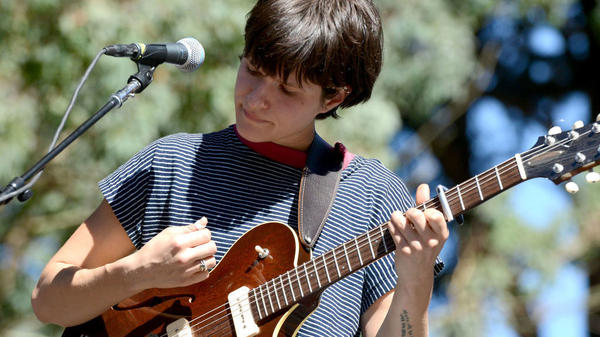 Big Thief's Adrianne Lenker performs at the Hardly Strictly Bluegrass Festival on Oct. 6, 2017 in San Francisco.